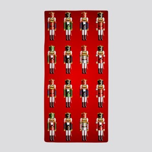 Nutty Nutcracker Toy Soldiers Beach Towel