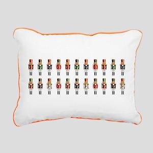 Nutty Nutcracker Toys Rectangular Canvas Pillow
