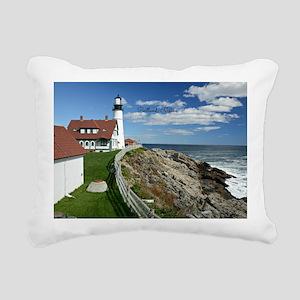 Lighthouse, Portland, Ma Rectangular Canvas Pillow