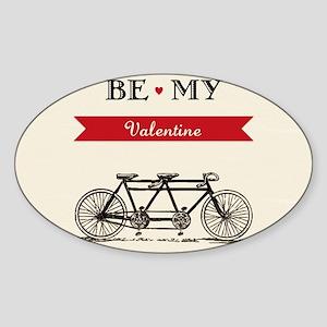 Tandem Bicycle - Valentine's Day  Sticker (Oval)