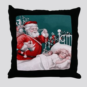 vintage christmas Throw Pillow