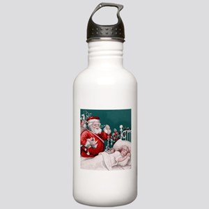 vintage christmas Water Bottle