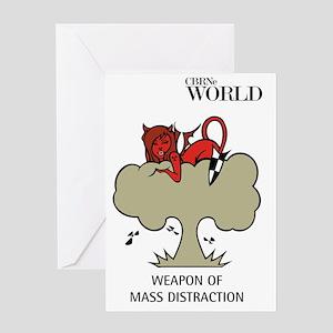 Nuclear Nymph (colour) Greeting Card