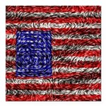 Van Gogh's Flag of the US Square Car Magnet 3