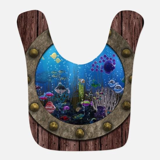 Underwater Love Porthole Bib
