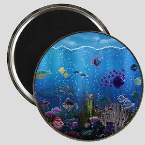 Underwater Love Porthole Magnet