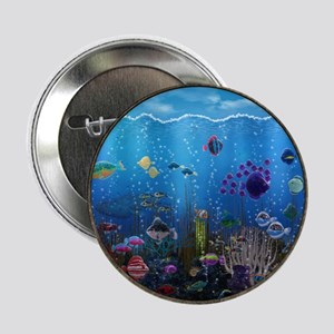 "Underwater Love Porthole 2.25"" Button"