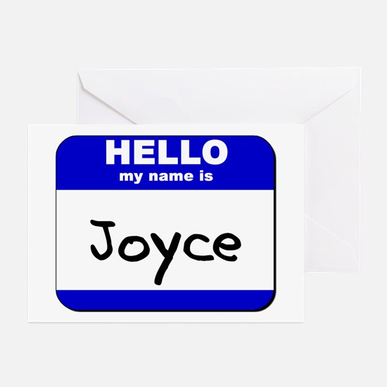 hello my name is joyce  Greeting Cards (Package of