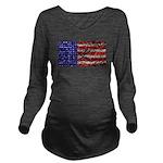 Van Gogh's Flag of the US Long Sleeve Maternity T-