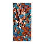 Klimtified! - Rust/Turquoise Beach Towel