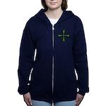 Green Maltese Cross Women's Zip Hoodie