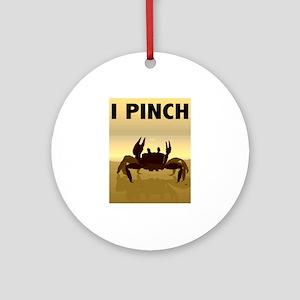 I Pinch Crab Ornament (Round)