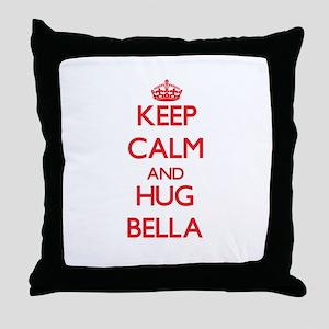Keep Calm and Hug Bella Throw Pillow