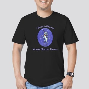 Unicorn Purple Glitter Personalize Men's T-Shirt