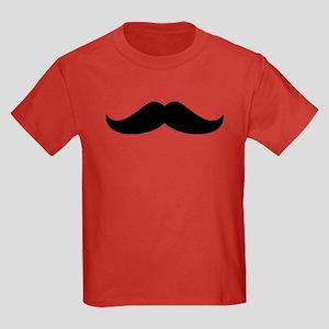 Cool Mustache Beard Kids Dark T-Shirt