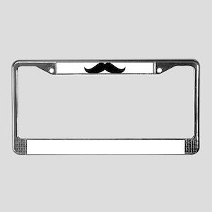 Cool Mustache Beard License Plate Frame