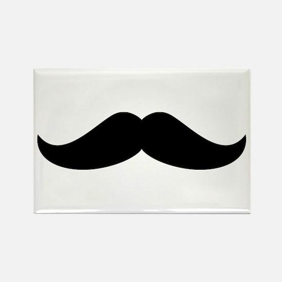 Cool Mustache Beard Rectangle Magnet