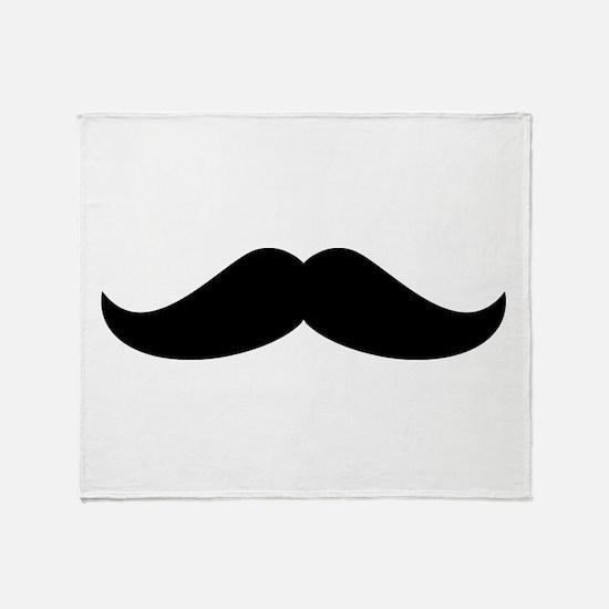 Cool Mustache Beard Throw Blanket