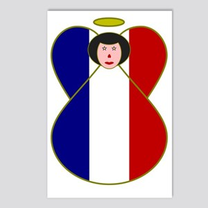 French Angel Flag Black H Postcards (Package of 8)