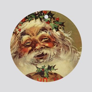 Hohoho, vintage christmas Ornament (Round)