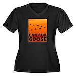 Canada Goose Women's Plus Size V-Neck Dark T-Shirt
