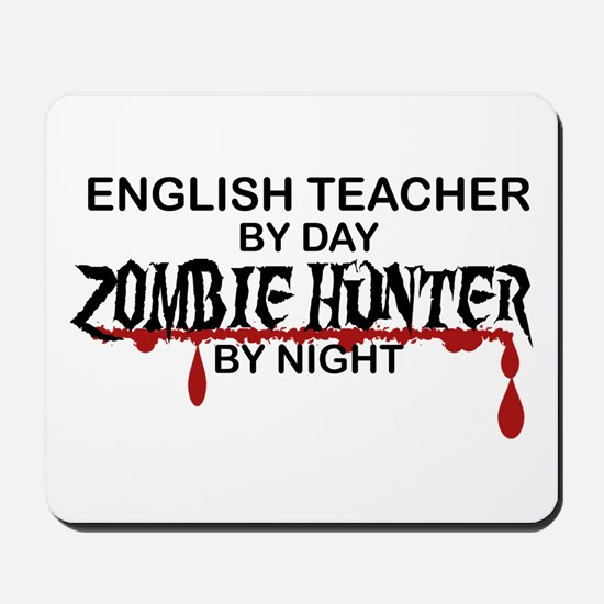 Zombie Hunter - English Teacher Mousepad