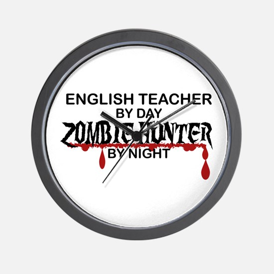 Zombie Hunter - English Teacher Wall Clock