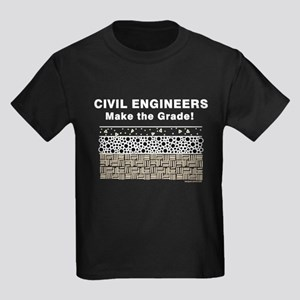 Civil Engineers Graded Kids Dark T-Shirt