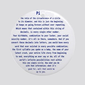 Pi from Person of Interest Round Ornament
