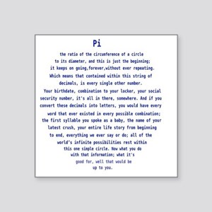 """Pi from Person of Interest Square Sticker 3"""" x 3"""""""