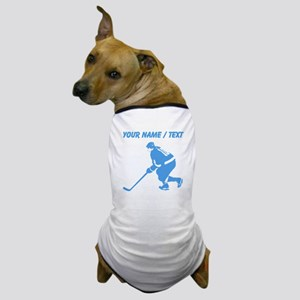 Custom Hockey Player Dog T-Shirt