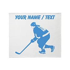 Custom Hockey Player Throw Blanket