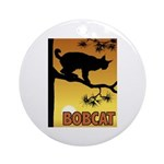 Graphic Bobcat Ornament (Round)