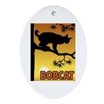Graphic Bobcat Oval Ornament