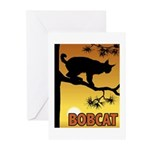 Graphic Bobcat Greeting Cards (Pk of 10)