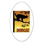 Graphic Bobcat Oval Sticker
