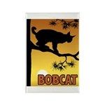 Graphic Bobcat Rectangle Magnet