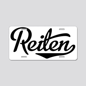 reiten Aluminum License Plate