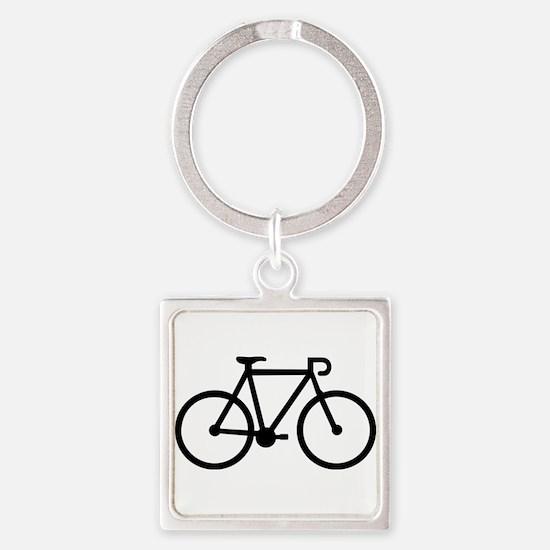 Bicycle bike Square Keychain
