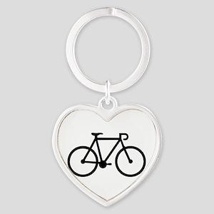 Bicycle bike Heart Keychain