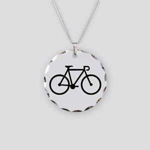 Bicycle bike Necklace Circle Charm