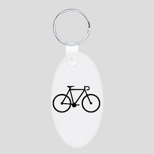Bicycle bike Aluminum Oval Keychain