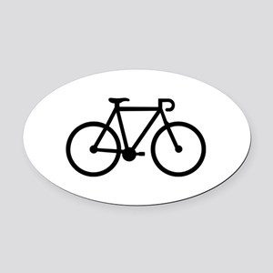 Bicycle bike Oval Car Magnet