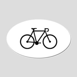Bicycle bike 20x12 Oval Wall Decal