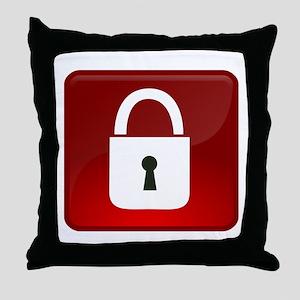 Locked Icon Throw Pillow