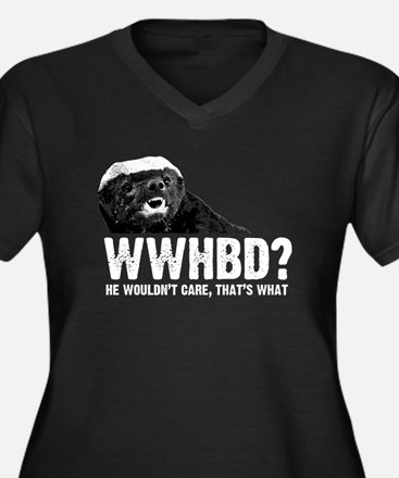 WWHBD Women's Plus Size V-Neck Dark T-Shirt