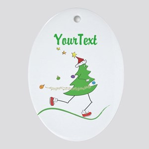 Customize Christmas Tree Runner Ornament (Oval)