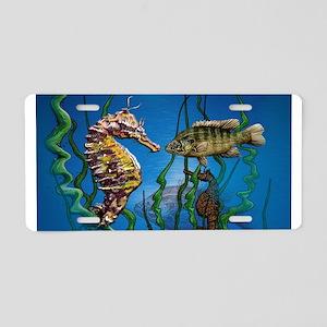 Seahorse Standoff Aluminum License Plate