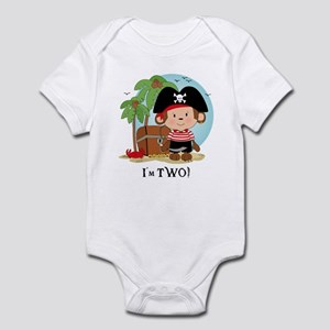Monkey Pirate 2nd Birthday Infant Bodysuit