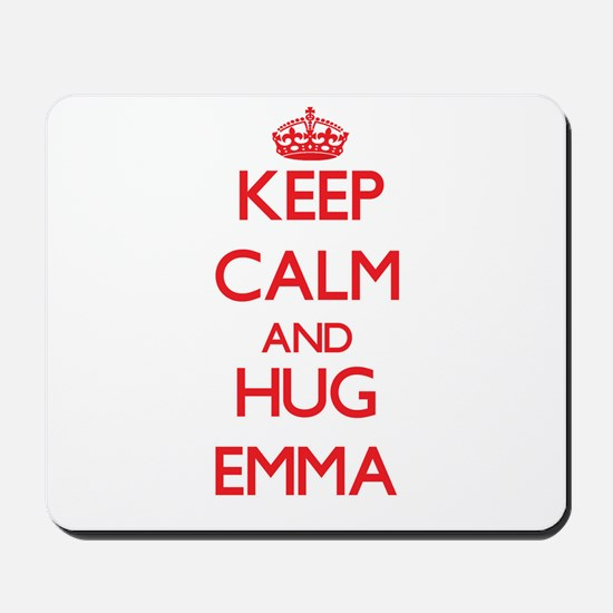 Keep Calm and Hug Emma Mousepad